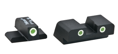 Tall Classic Tritium Night Sights For Springfield XD/XDM Suppressor Set Green Front Green Rear