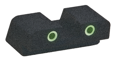 Classic Tritium 2-Dot Rear Sight For Springfield XD #10 Green With White Outline