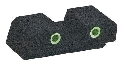Classic Tritium 2-Dot Rear Sight For Springfield XD #11 Green With White Outline