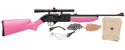 Model 760 Pumpmaster Kit .177 Caliber Pink Stock and Forend with 4x15mm Scope