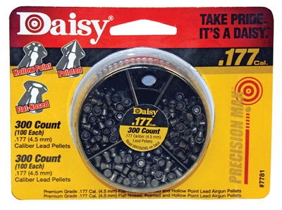 Dial-A-Pellet Container Holds 300 Pellets .177 Caliber