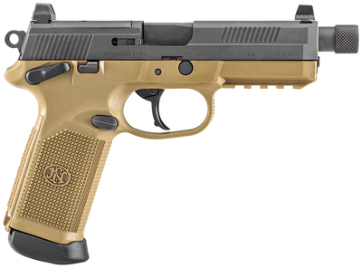 FNX-45 Tactical Double Action/Single Action .45 ACP 5.3 Inch Threaded Barrel Flat Dark Earth/Black Finish Night Sights 10 Round