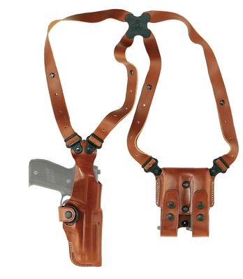 Vertical Shoulder Holster System For Colt/Ruger Six-Shots/Smith & Wesson K Frame 6 Inch Barrel Tan Ambidextrous