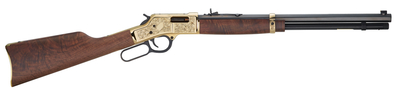 Henry Big Boy Deluxe Engraved 3rd Edition .45 Colt 20 Inch Octagonal Barrel Blue Finish Adjustable Sights American Walnut Stock 10 Round