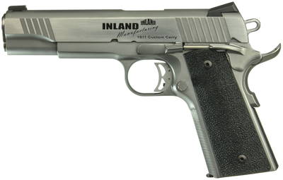 1911 Custom Carry .45 ACP 5 Inch Barrel Novak Fixed/Dovetail Sights Stainless Steel 7 Round