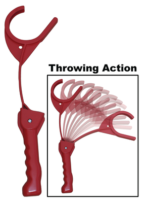 E-Z Throw 3 Clay Target Thrower With Pivital Arm Swing Red