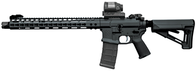 Gen III Infidel Rifle 5.56mm 13.7 Inch Stainless Steel Barrel With Welded Flash Suppressor (Total 16 Inch Overall) Black Magpul STR Stock 30 Round