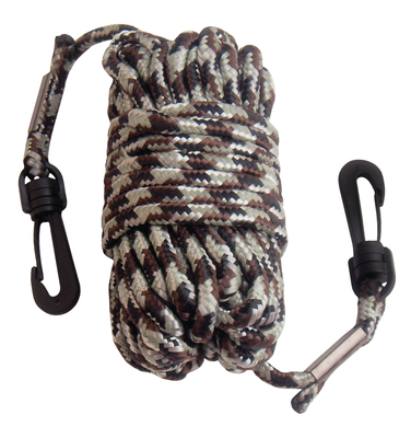 Pull-Up Nylon Rope With Snap Hooks At Both Ends 30 Feet Camouflage