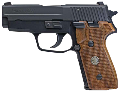 P225-A1 Classic |9mm 3.6 Inch Barrel Black Nitron Finish Siglite Night Sights Hardwood Grip 2 8 Round Magazines