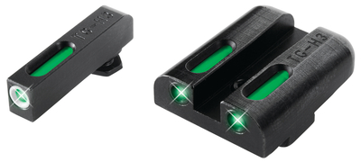 Brite-Site TFX Sights for Novak LoMount Cut .260 Front/.450 Rear 1911 5 Inch Government .45ACP Green Rear/Green With Focus Lock Front
