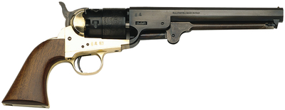 1851 Colt Navy Revolver .44 Caliber Brass Frame 7.5 Inch Octagon Barrel Blue Finish Walnut Grip