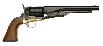 1860 Colt Army Revolver .44 Caliber Steel Frame Brass Guard 8 Inch Round Barrel Blue Finish Walnut Grip