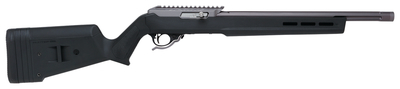 X-Ring .22 Long Rifle 16.5 Inch Threaded Barrel 1/2x28 TPI Gun Metal Gray Finish Ruger BX Trigger Magpul Hunter Stock Black Finish 10 Round