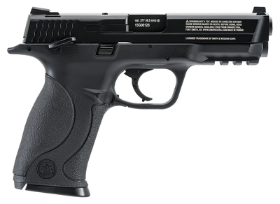 Smith & Wesson M&P 40 Blowback .177 BB 3.5 Inch Barrel White-Dot Adjustable Front Sight Accessory Rail Black 15 Shot