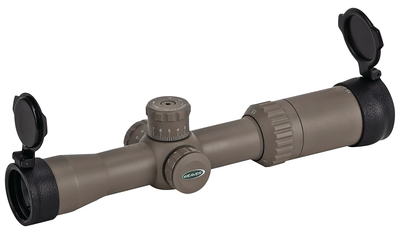 Kaspa Tactical Scope 3-12x44mm Side Focus Illuminated Tactical Ballistic-X Reticle Dark Earth