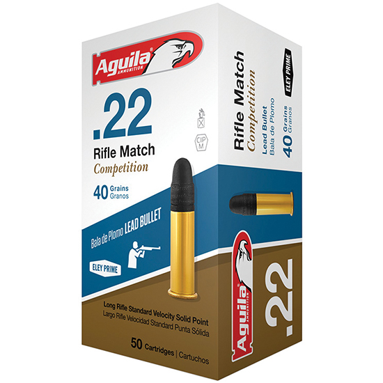 Aguila |22LR MATCH RIFLE 40GR 1080 FPS Box of 50 Rounds