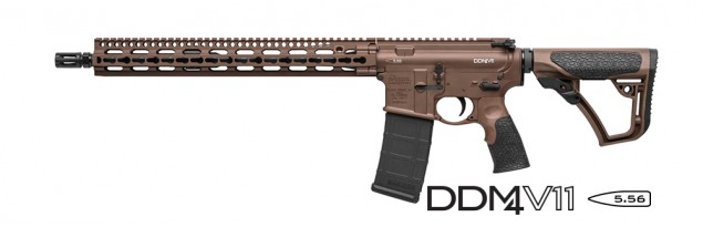 DDM4 v11 Carbine | 5.56 NATO 16 Inch Government Profile Barrel KeyMod System SLiM Rail Milspec+ Brown Cerakote 32 Round