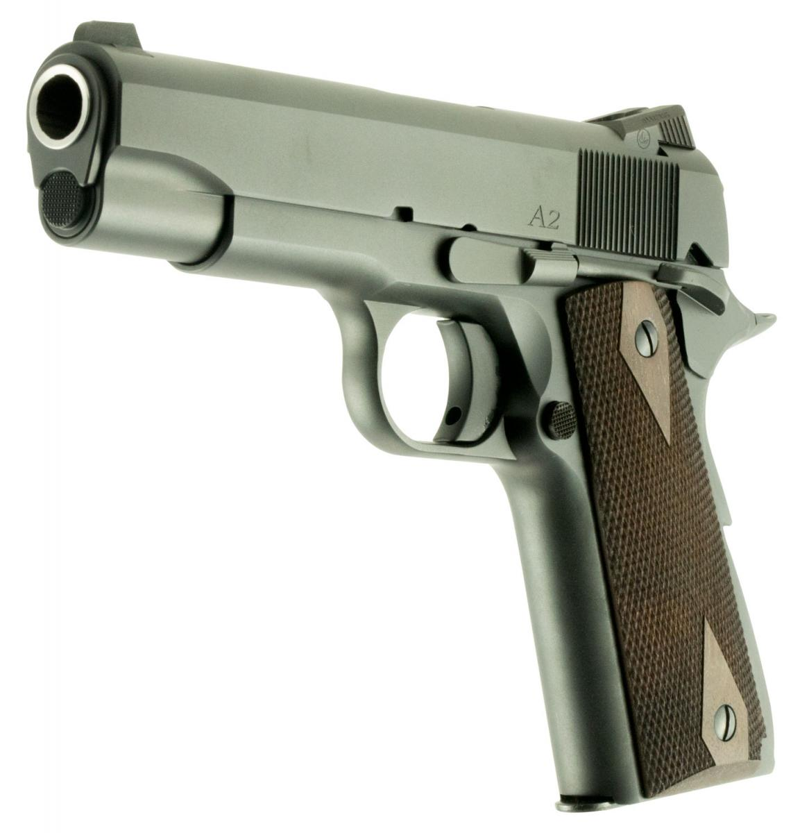 CZ Dan Wesson 1911 A2 Commander |.45 ACP 4.25 Inch Barrel Checkered Walnut Grips, Two 7 Round Magazines