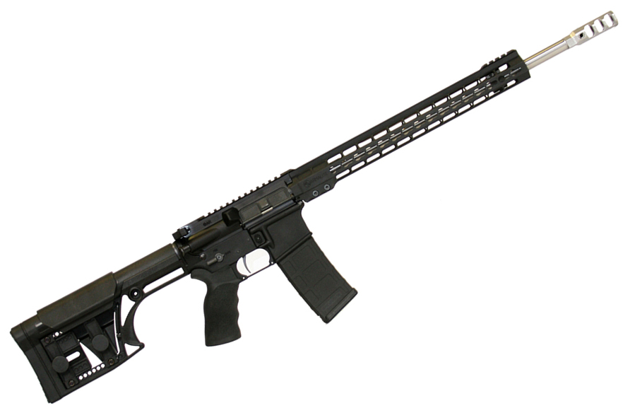"M-15 3-Gun Rifle |223 Wylde 18"" 1:8 Twist Stainless Barrel, Timney 3Lb Trigger, 15"" Keymod Handguard, Luth-AR MBA-1 Stock, Tunable Muzzle Brake, Raptor Charging Handle, 30 Round PMAG"
