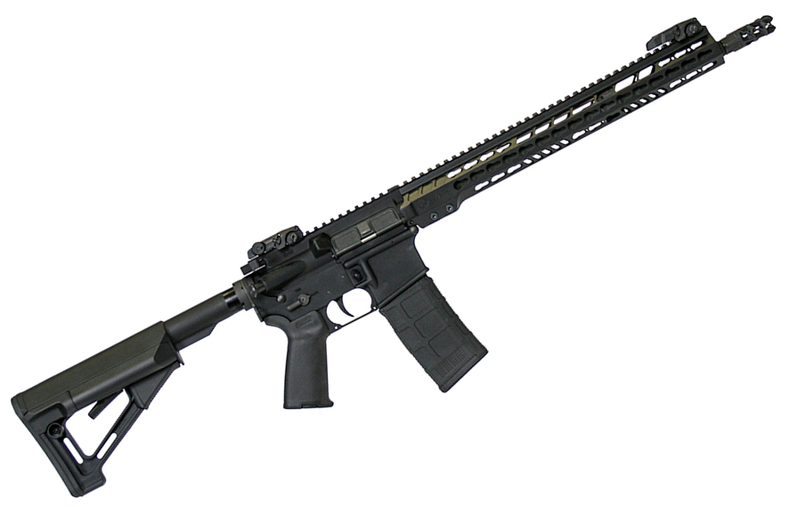 M-15 Tactical 5.56x45mm/.223 16 Inch Chrome Moly Vanadium Barrel Magpul STR Collapsible Stock Black 30 Round