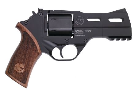Rhino Single/Double Action Revolver .357 Magnum 4 Inch Barrel Black Finish Medium Wood Grips 6 Rounds