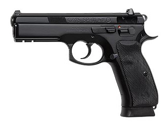 CZ 75 SP-01 |9mm Luger 4.6 Inch Barrel Manual Ambi Safety Night Sights Black Polycoat 2-18 Round Magazines