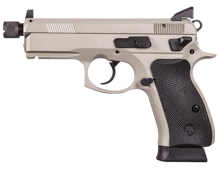 CZ P-01 Omega Suppressor Ready 9mm Luger 3.8 Inch Threaded Barrel Urban Grey Frame/Slide Black Rubber Grips 14 Round