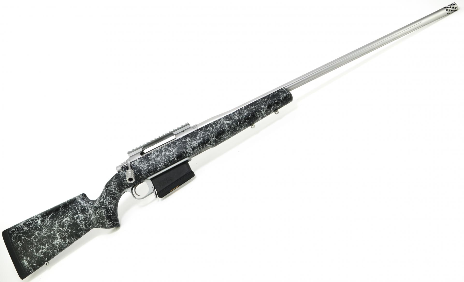 "Cooper Model 52 OPC Open Country Long Range| 300 Win Mag 26"" Stainless Fluted Barrel w/ Muzzle Brake, Black w/Grey Webbing Stock, 1 Piece 10 MOA Picatinny Rail, Tactical Bolt Knob"