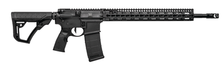 DDM4 V11 Pro |5.56mm NATO 18 Inch S2W Profile Barrel Salt Bath Nitride Finished Daniel Defense Buttstock and Pistol Grip Black 32 Round