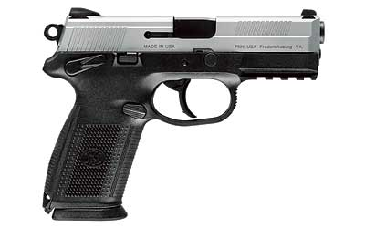 FNX-40 Double Action/Single Action .40 Smith & Wesson 4 Inch Barrel Black Finish Stainless Steel Slide Combat Sights 14 Round