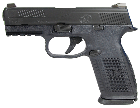 FNS-NMS .40 S&W 4 Inch Barrel Black With Black Slide Fixed Sights Non-Manual Safety 14 Round