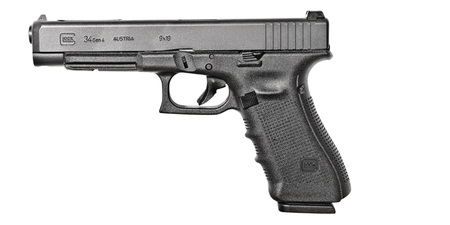 Glock 34 Gen4 |9mm 5.32 Inch Barrel Black Finish Adjustable Sights Three 17 Round Magazines