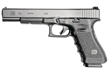 Glock 17L |9mm 6 Inch Barrel Black Finish Fixed Sights Three 17 Round Magazines
