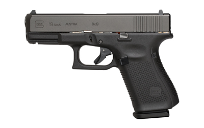 Gen5 Glock 19 |9mm 4.02 Inch Marksman Barrel nDLC Black Finish Flared Magwell Ambi Slide Stop Fixed Sights Three 15 Round Magazines