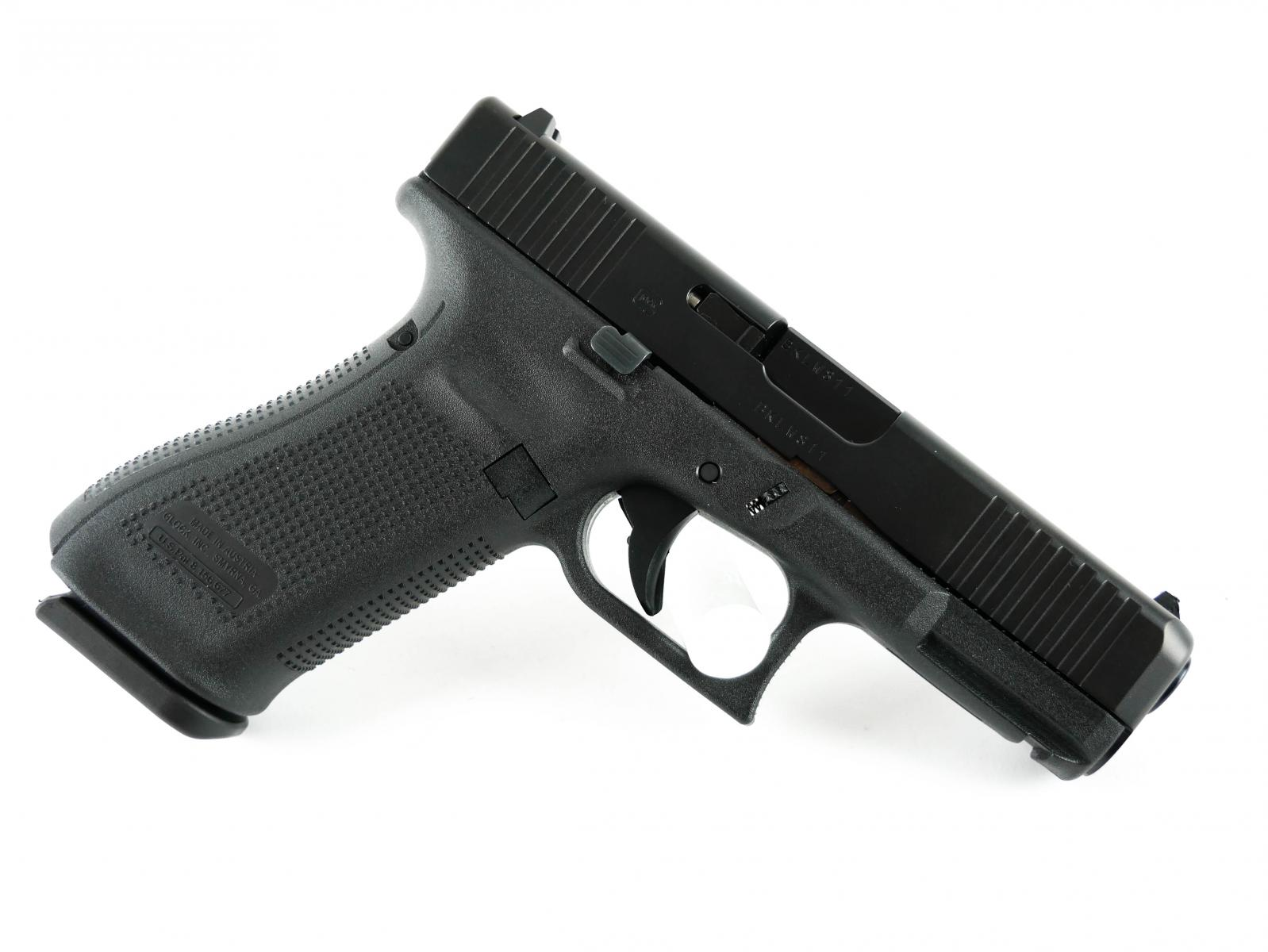 "Glock 45 | 9x19mm, 4"" Barrel, nDLC Slide, 17Rd, Front Serrations"