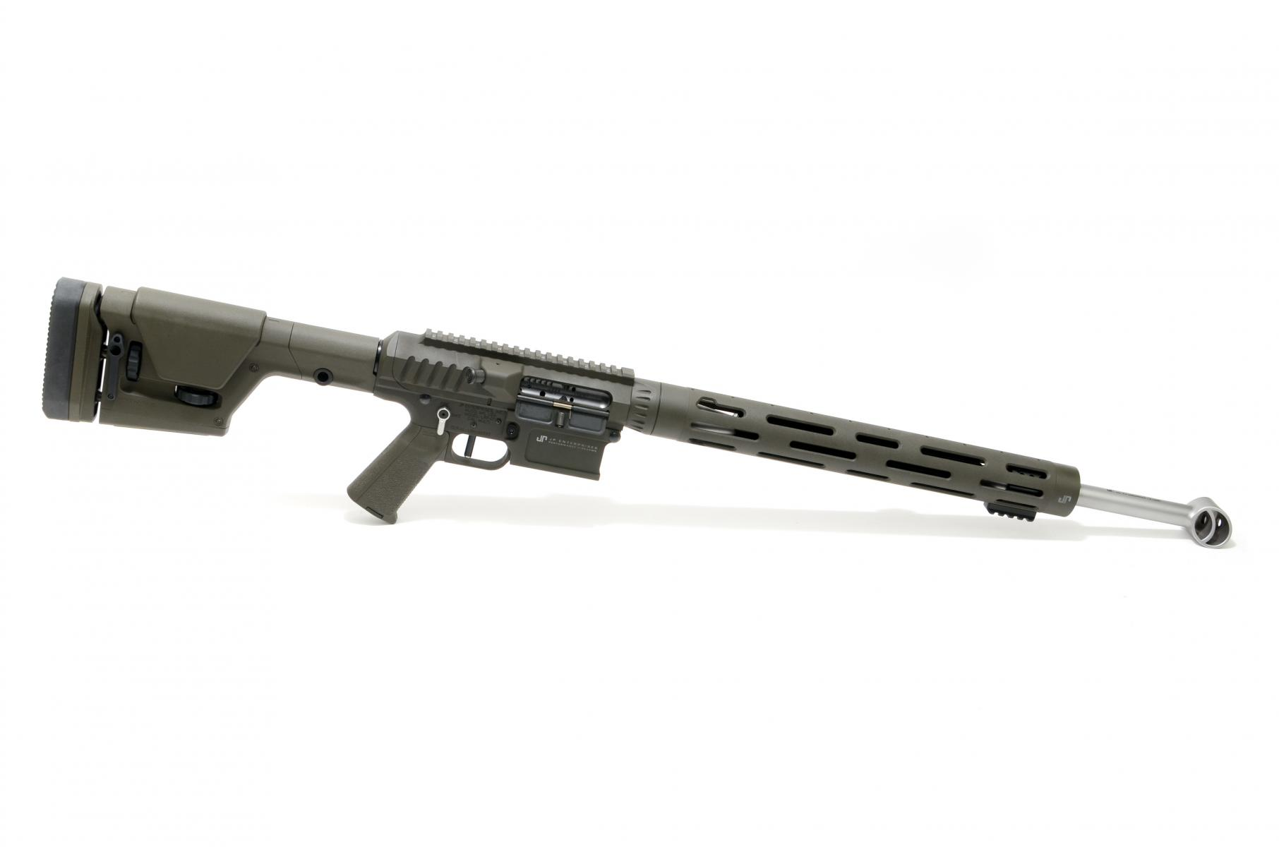 "JP LRP-07 |6.5 Creedmoor 22"" 1:8 Twist Medium Contour Matte Bead Blast Stainless Barrel, Billet Upper/Lower w/ Side Charge System, OD Green Cerakote, Black XL Thermal Dissipator, SCS, Magpul PRS Gen3 Stock, Low Mass BCG, 10-Round Magazine"