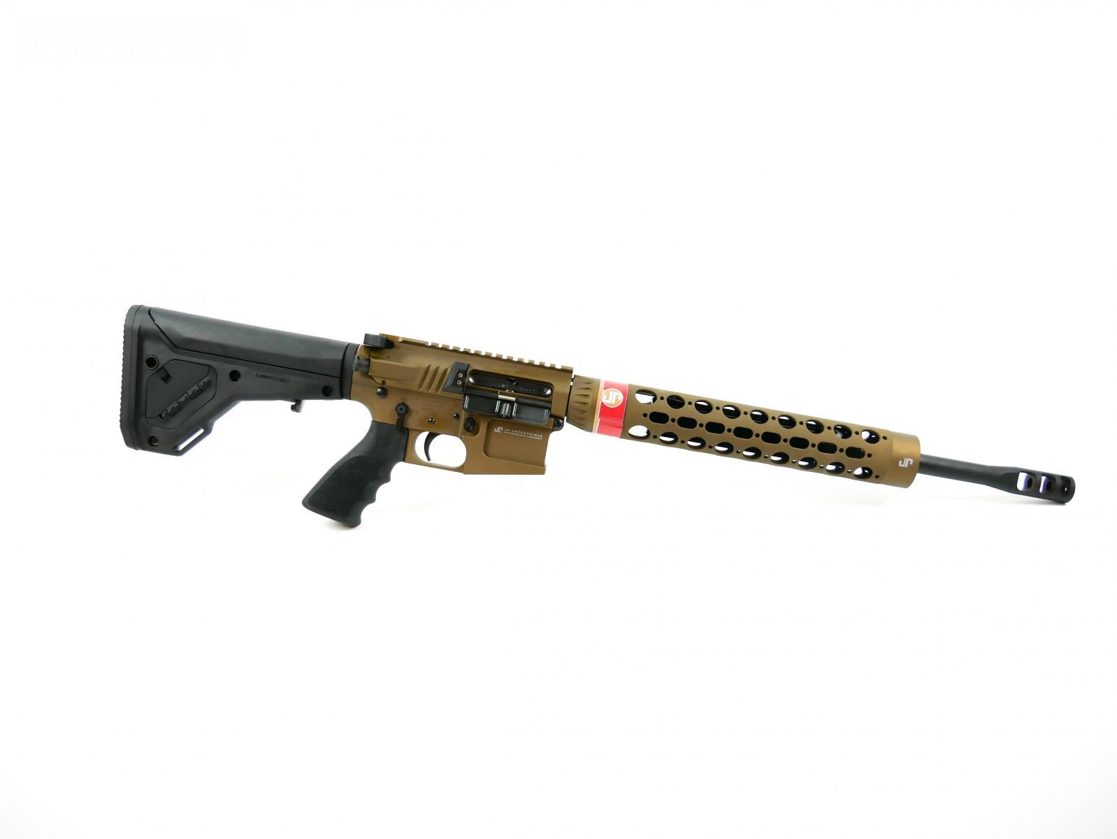 "JP PSC-11 |223 Wylde 16"" 1:8 Twist Black Teflon Barrel, Burnt Bronze Cerakote, Billet Upper/Lower w/ Dual Charge System, UBR2 Stock, Black Thermal Dissipator, Silent Captured Recoil Spring, Low Mass BCG"