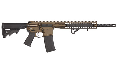 "LWRC M6 IC Direct Impingement |5.56x45 16"" Spiral Fluted Barrel, Burnt Bronze Finish, DI Operation, Nickel Boron Coated Bolt Carrier, Ambi Safety/Bolt Catch/ Bolt Release/ Mag Release"