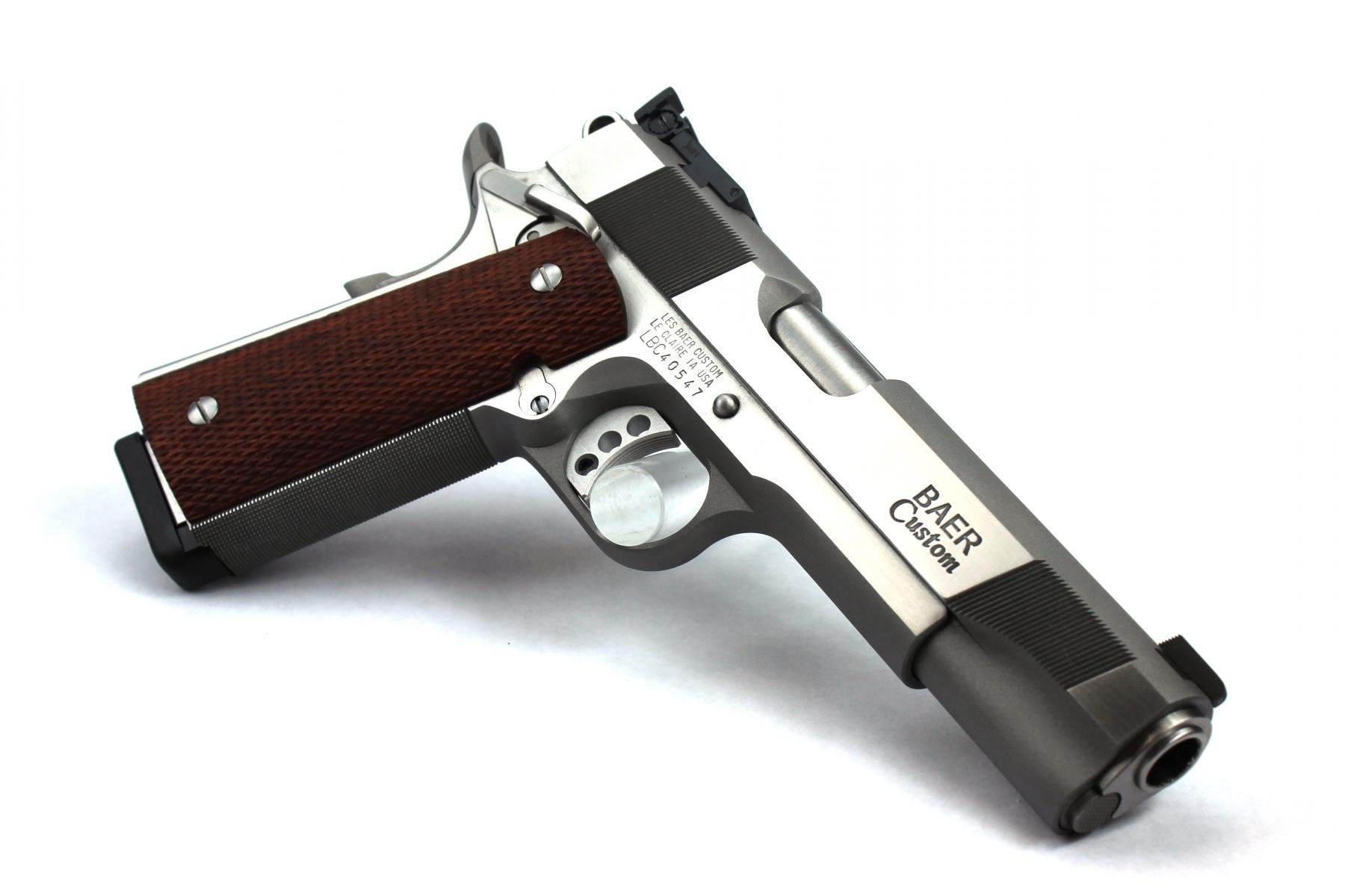 "Baer Custom 1911 Concept V | .45 ACP 5"" Barrel, Stainless Frame/Slide, Adjustable Rear Sight, 30 LPI Frontstrap Checkering, Ambi Safety, 2 Magazines"