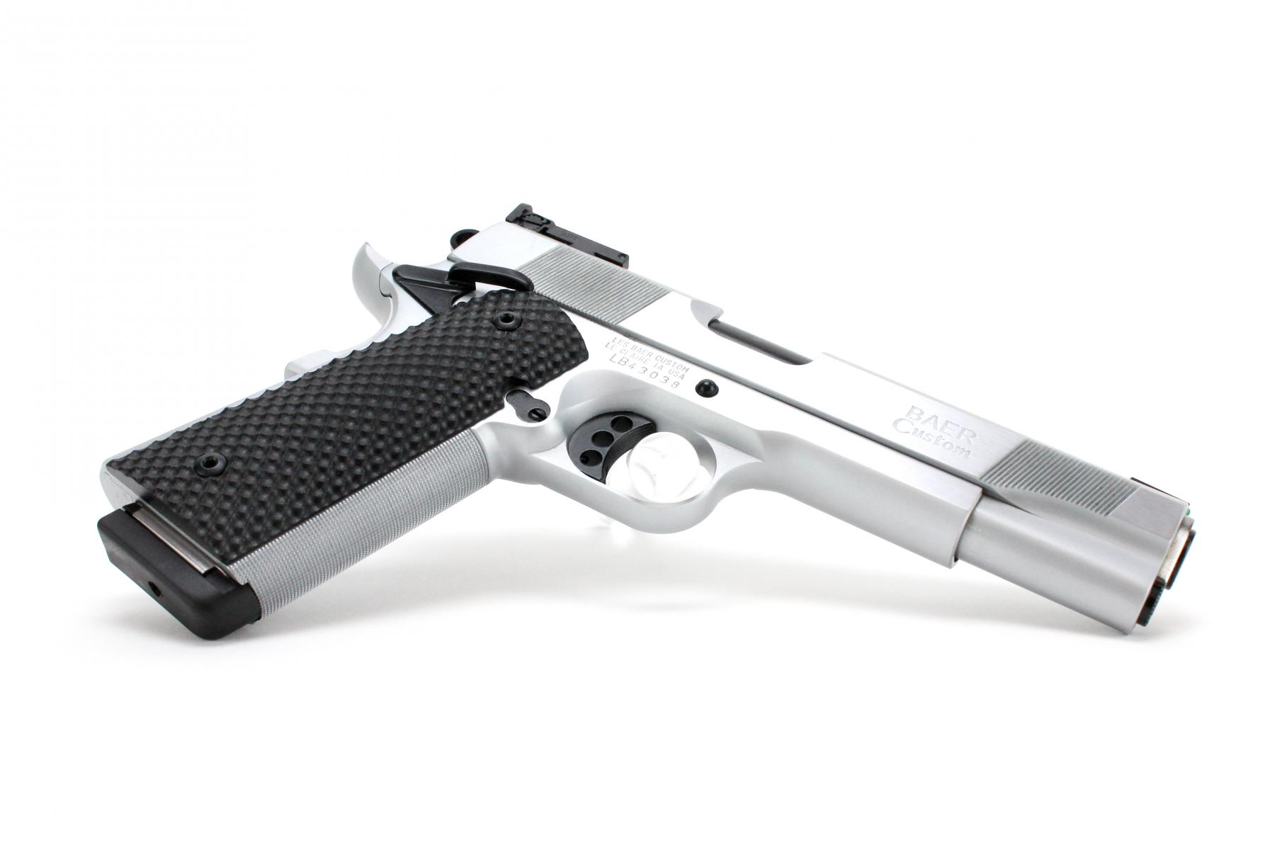 "Baer Custom 1911 Hemi 572 | .45 ACP 5"" Barrel, Hard Chrome Frame/Slide, Adjustable Rear Sight, Dupont S Black Coating on Small Parts, Ambi Safety, 2 Magazines"
