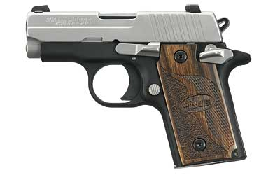 P238 SAS |.380ACP Duo-tone, Night Sights, Wood Grips, Sig Anti Snag Carry Melt, 1 6-Round Magazine