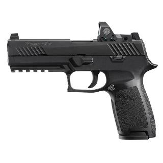 P320 RX Full Size With Romeo Red Dot I Package |9mm Luger 4.7 Inch Barrel Black Finish Integral Rail Siglite Night Sights Romeo 1 Reflex Sight Polymer Grip, 2 17 Round Magazines