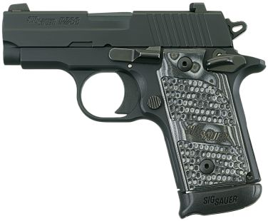 P238 Extreme .380 ACP 2.7 Inch Barrel Siglite Night Sights Black Nitron Slide Finish G10 Grips, 1 7 Round Magazine