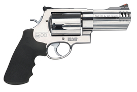 Model 500 .500 Smith & Wesson Magnum 4 Inch Barrel Satin Stainless Finish Synthetic Grip 5 Round