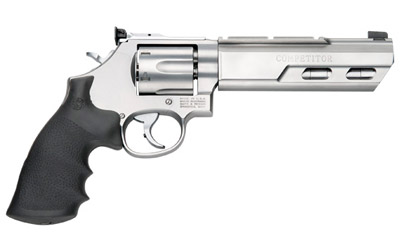 Model 629 Competitor .44 Magnum/.44 S&W Special 6 Inch Weighted Stainless Steel Barrel Glassbead Finish Adjustable Sights Hogue Grip 6 Round
