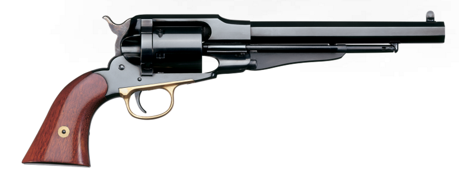 "Uberti 1858 New Army Conversion |45 Colt 8"" Barrel, Blue Steel Frame and Backstrap, Brass Trigger Guard"
