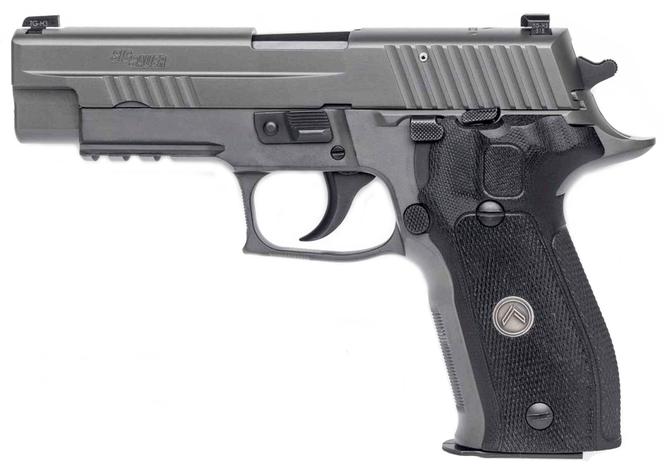 "P226 Legion |9mm 4.4"" Barrel Legion Gray Finish, w/ Night Sights, SRT Trigger, G10 Grips, Three 15-Round Magazines"