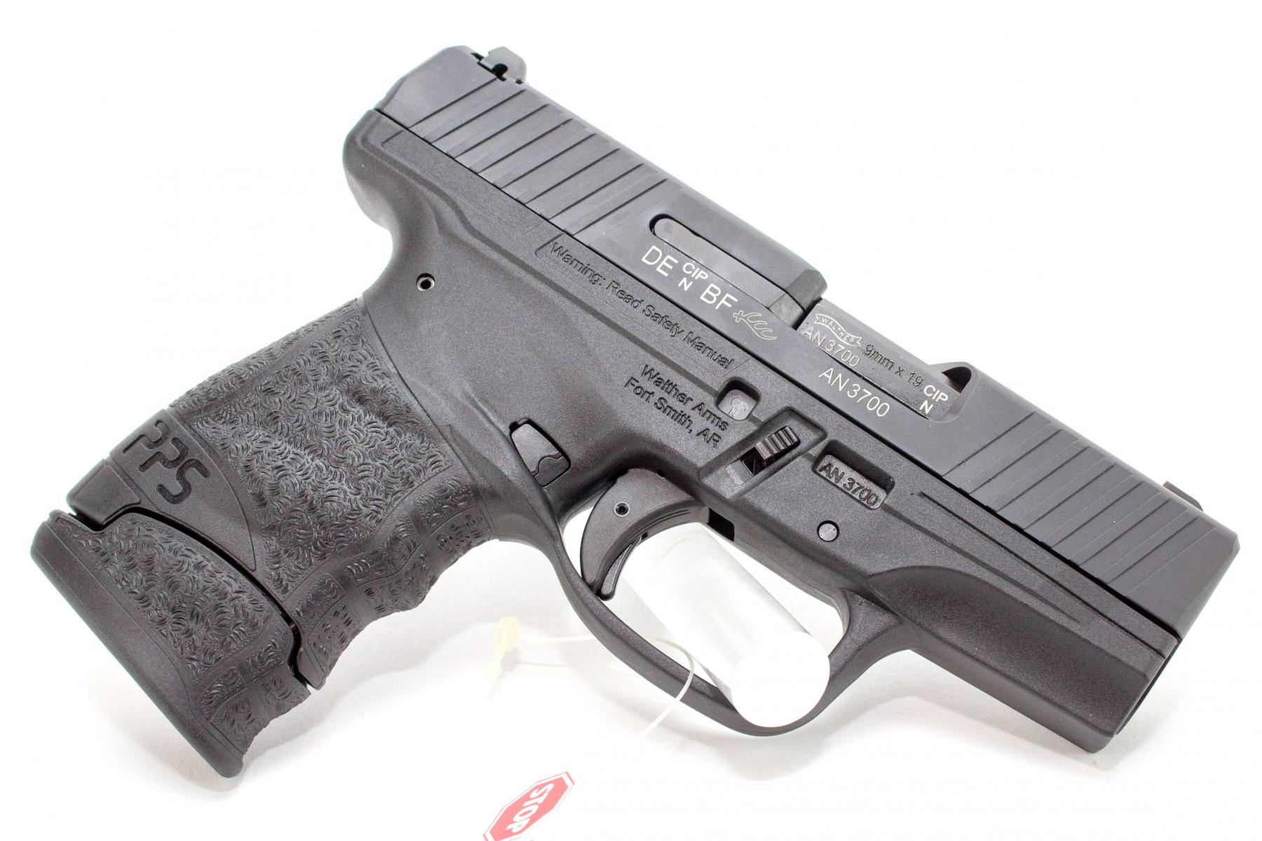 PPS M2 |9mm 3.2 Inch Barrel Black Finish Synthetic Grips, Includes 1 7-Round and 1 8-Round Magazine