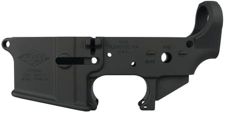 YHM AR-15 Forged Stripped Lower Receiver |Matte Black, over-sized magazine well