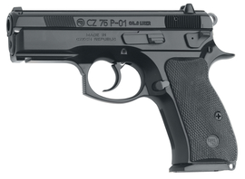 CZ 75 P-01 Compact With De-cocker |9mm Luger 3.8 Inch Barrel Black Finish Polycoat Two 14 Round Magazines